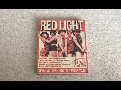 ♡Unboxing f(x) 에프엑스 3rd Studio Album Red Light 레드라잇 (Wild Cat Version)♡