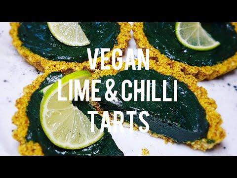 Vegan Lime & Chilli Tarts with Spirulina & Turmeric Recipe MUST SEE
