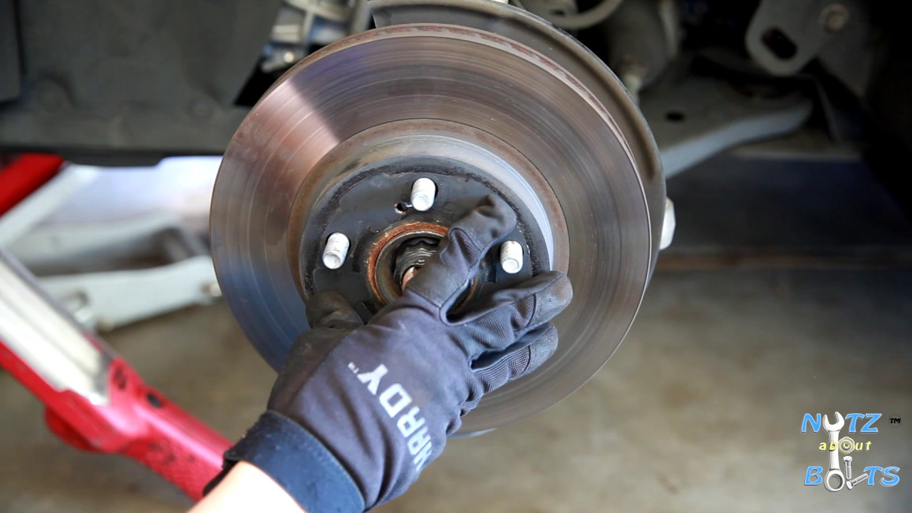 2010 2015 Toyota Prius Front Brake Pads And Rotors Remove