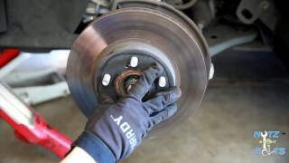 2010-2015 Toyota Prius Front brake pads and rotors remove and install