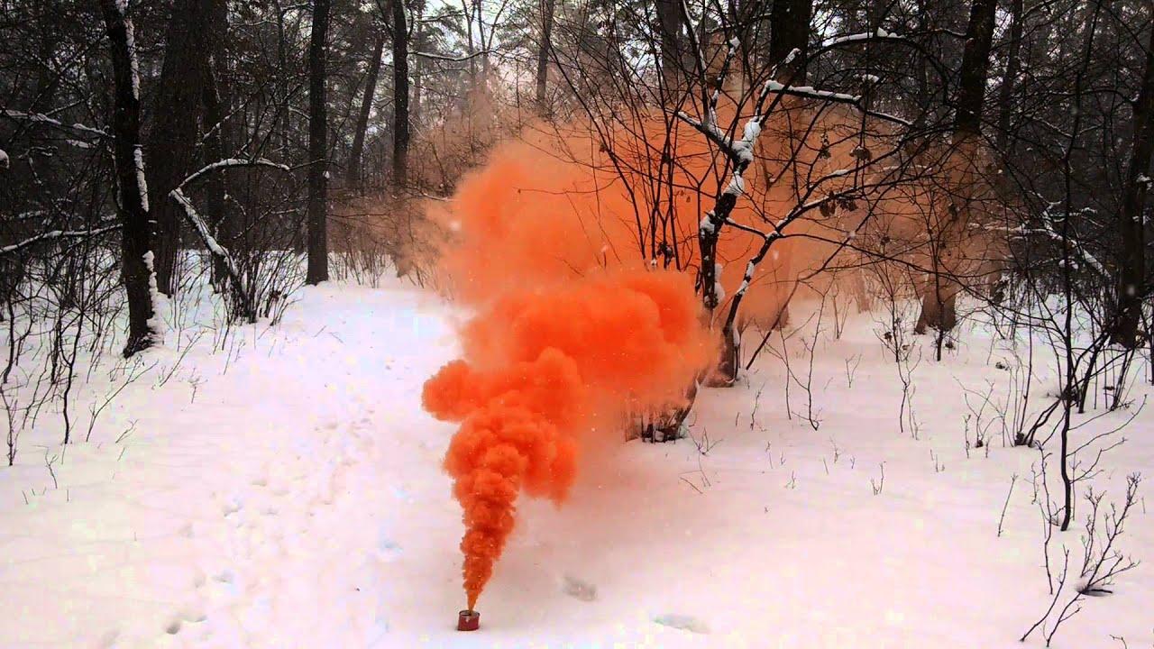 Армейская дымовая шашка РДГ-2Ч (чёрная дымовуха) - YouTube