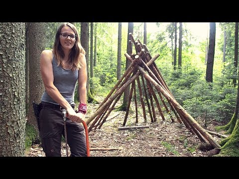 Building A Teepee In The Woods (Part 1) #bushcraft