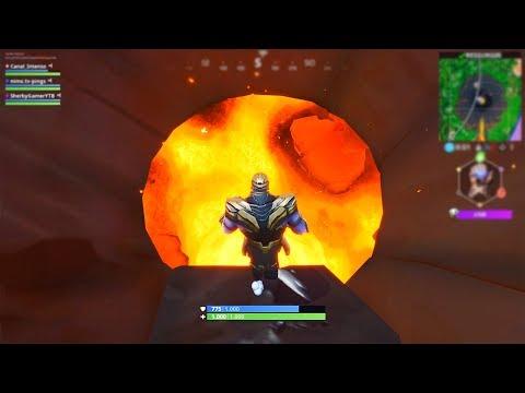 O Que Acontece Se o Thanos Entrar No Vulcão Fortnite