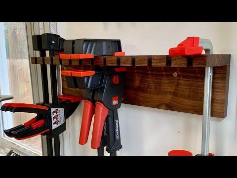 Woodworking Clamp Rack // EASY // DIY