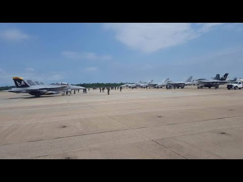 Three fighter squadrons returning from 8-month deployment
