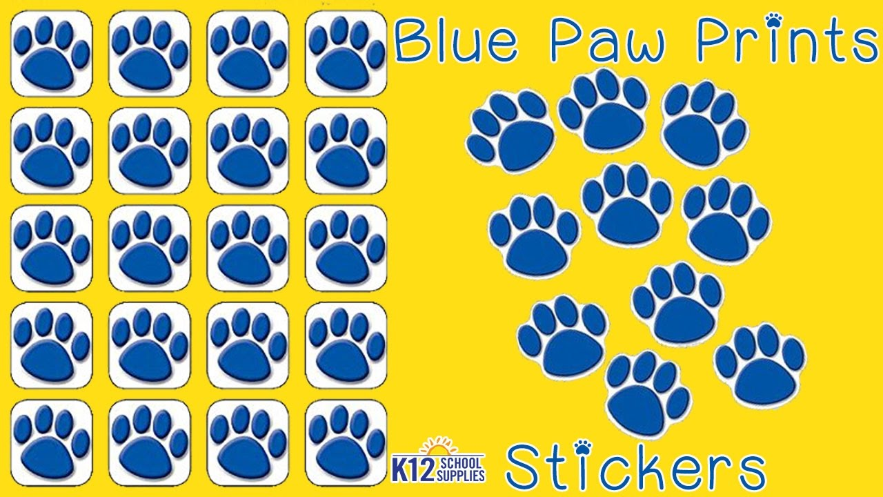 Animal Stickers Paw Print Stickers Reward Stickers YouTube - Where to print stickers