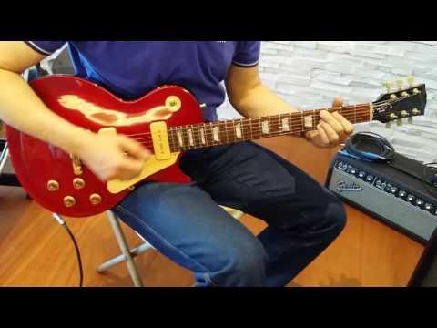 "Gibson 1996 Les Paul Gem Limited Series ""Ruby"" clean ch"
