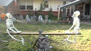 Halloween Yard Decoration Ghostly Seesaw Teeter Totter