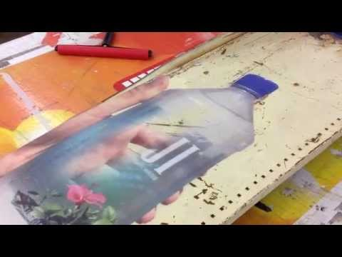 Fiji Water Bottles Printed on Reclaimed Metal [Prolab Digital]
