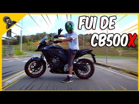 PEGUEI UMA HONDA CB500X E DEI O MAXIMO DELA - TEST RIDE