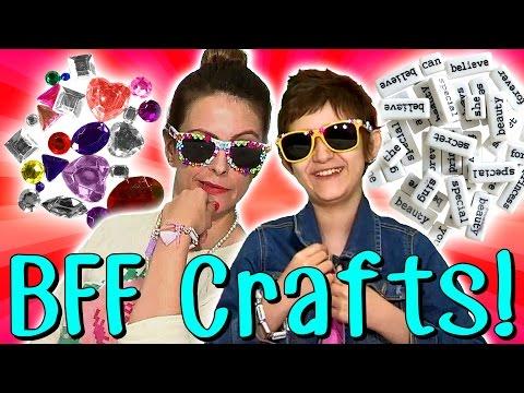Best Friend Crafts with Crafty Carol & Her BFF Sabrina! | Arts and Crafts with Crafty Carol