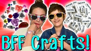Best Friend Crafts With Crafty Carol & Her BFF Sabrina! | Arts And Crafts With Crafty Carol