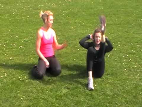 Tummy exercise female - Abs workout-- Single leg r...
