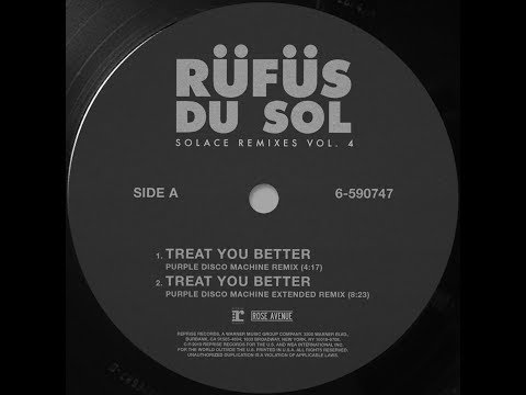 RÜFÜS DU SOL ●●Treat You Better (Purple Disco Machine Remix) [Official Audio]