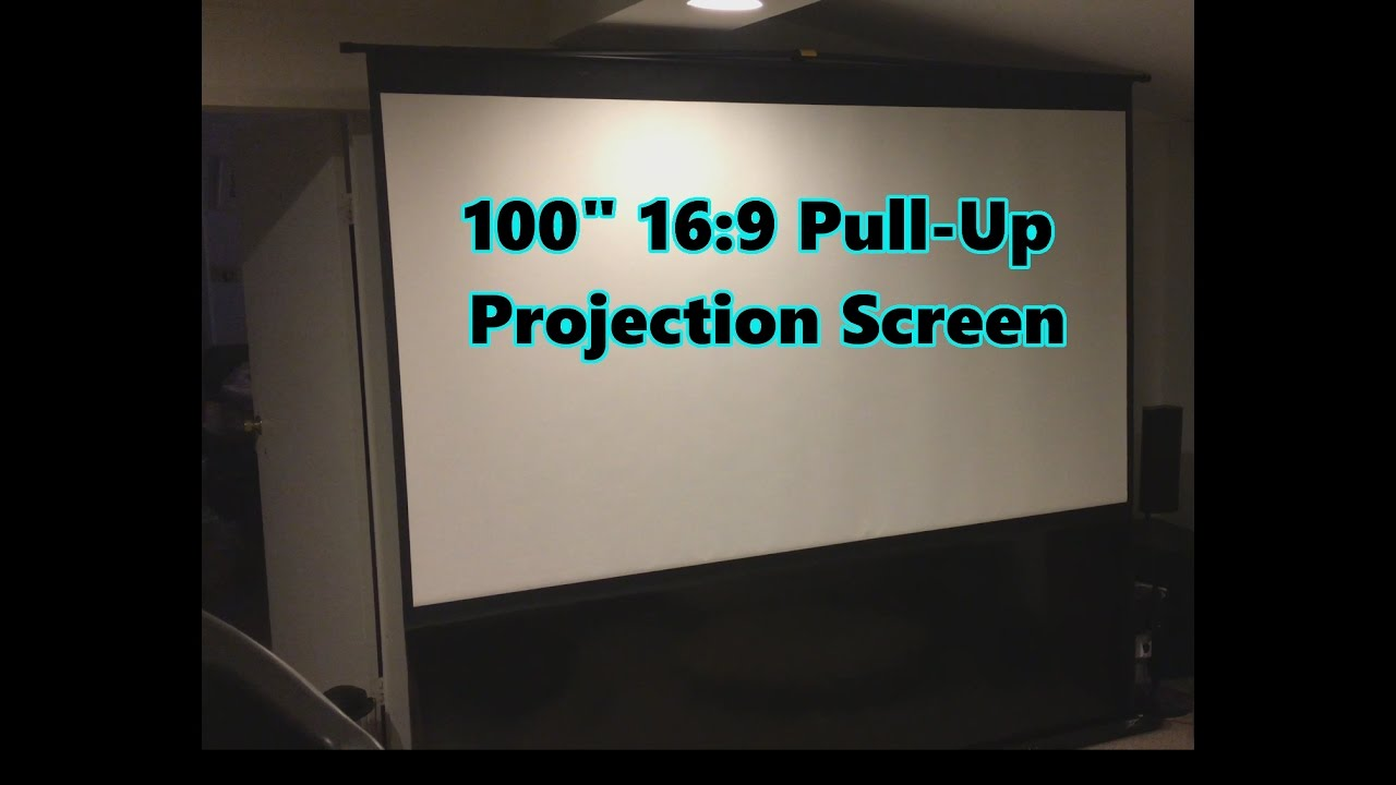 elite screens ezcinema plus 100inch pull up portable projection screen model f100xwh1