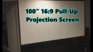 Elite Screens ezCinema Plus 100-inch Pull Up Portable Projection Screen - Model: F100XWH1
