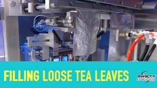 Packaging Loose Tea Leaves into pre-made stand-up pouches - Swifty Junior with Vacuum