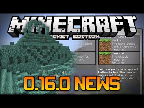 OCEAN MONUMENTS COMING! CUSTOM SUPERFLAT MAPS! - 0.16.0 Update News - Minecraft PE (Pocket Edition)