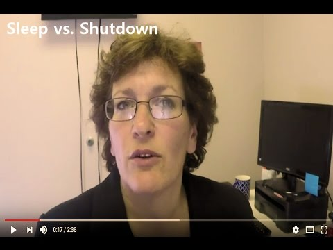Sleep vs shutdown