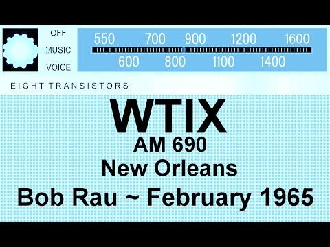 WTIX 690 AM Radio, New Orleans, Bob Rau Aircheck, February 1965