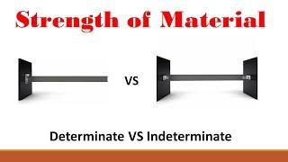 Strength of Materials (Part 9: Determinate VS Indeterminate)