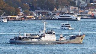 У Босфора затонуло российское разведсудно