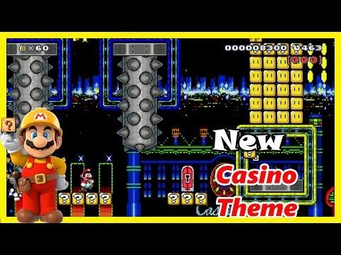 Super Mario Maker New Theme: Creative Casino Night Mod/Hack