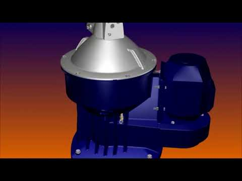 Alfa Laval S type purifier Full animation