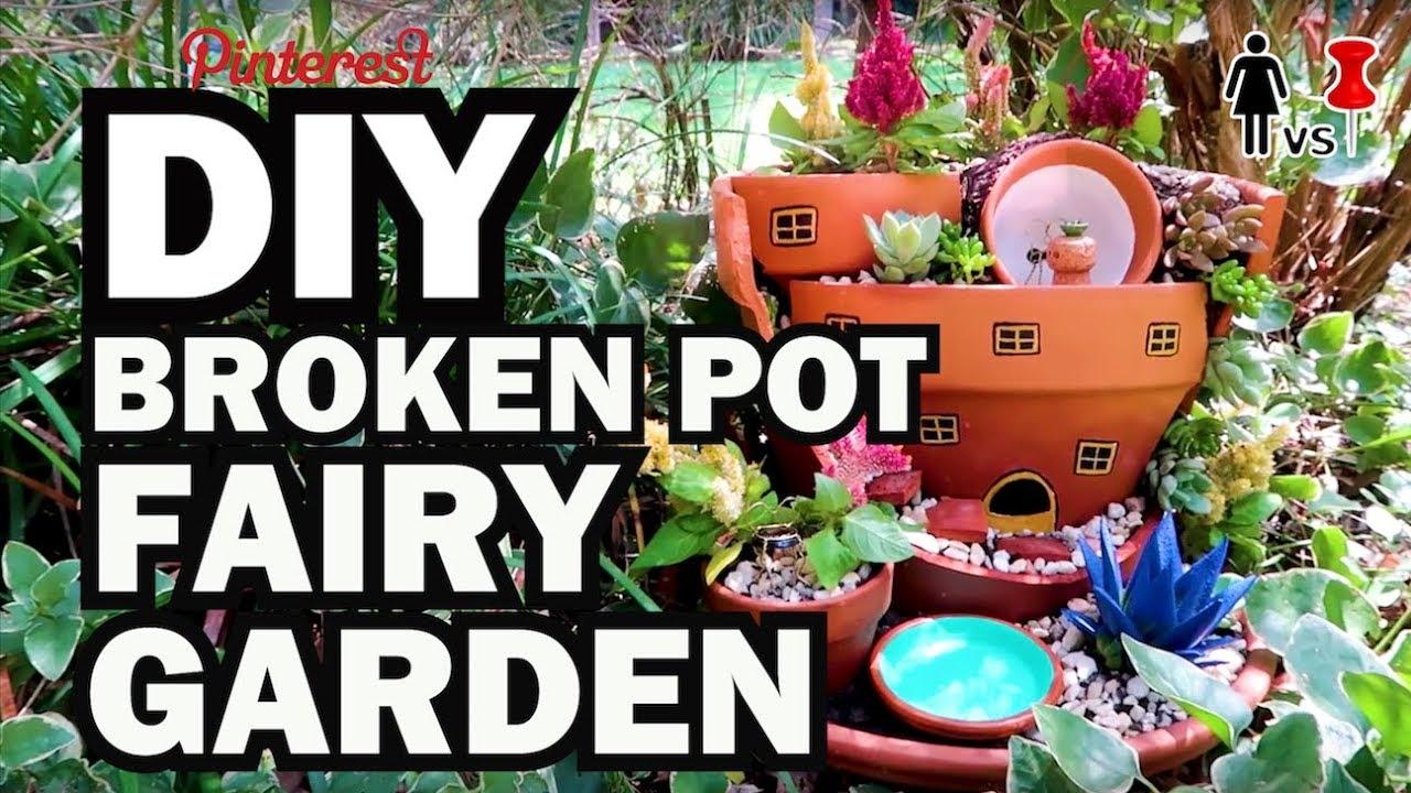 Fairy Garden Pictures Diy Fairy Garden Corinne Vs Pin Youtube