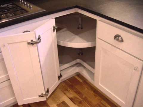 Corner Kitchen Cabinet I Corner Kitchen Cabinet Solutions - YouTube