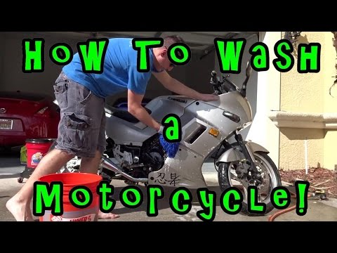 Tutorial: How to Wash a Motorcycle. FULL LONG VERSION! Kawas