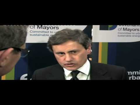 Gianni Alemanno Covenant of Mayors Ceremony 2010