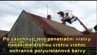 Renovace staré taškové střechy
