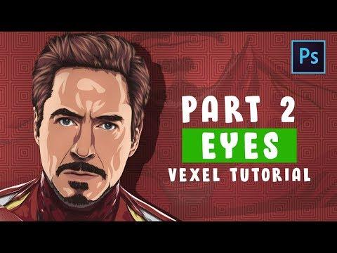 [ Photoshop Tutorial ] Vector / Vexel Art [PART 2 - EYES ] (IRONMAN) thumbnail