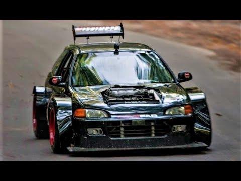 Brutal Honda Civic Widebody Eg6 450hp Turbo V6 Swap