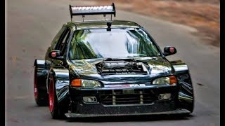 Brutal Honda Civic WideBody EG6 // 450Hp Turbo V6 Swap Monster by LoveFab