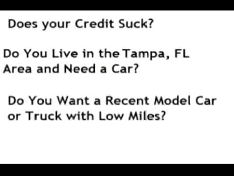 Need a Car? Live in Tampa? Have Bad Credit?