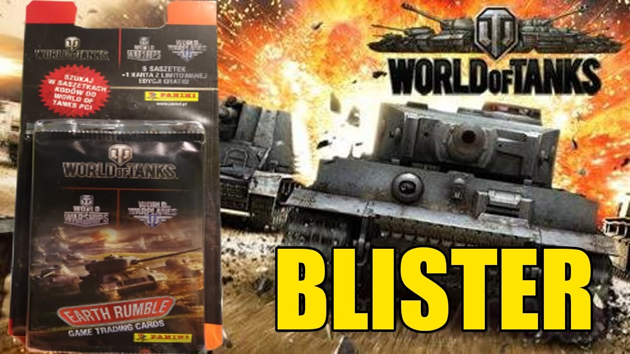 Opening Blister World Of Tanks Earth Rumble By Panini Youtube
