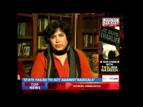 News Today At Nine: Taslima Nasrin on Charlie Hebdo attack