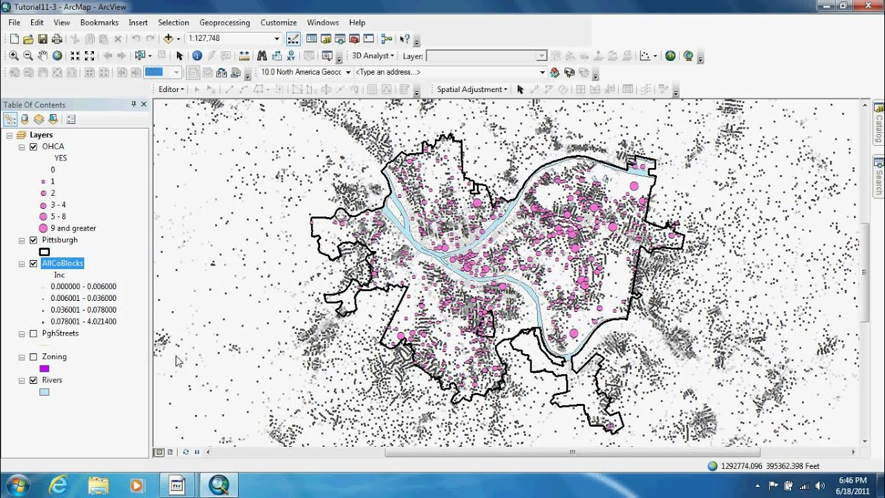 how to make kernel density by arcgis