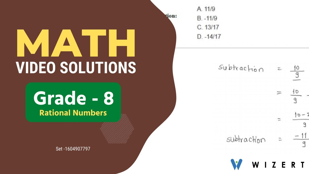 small resolution of Grade 8 Mathematics Worksheets - Rational Numbers worksheet pdfs for Grade 8  - Set 1604907797 - YouTube