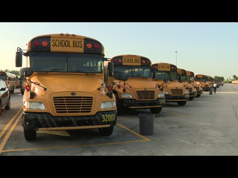 Miami-Dade County Public Schools bus drivers hit the road to learn new routes