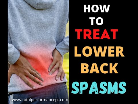 How to treat lower back spasms