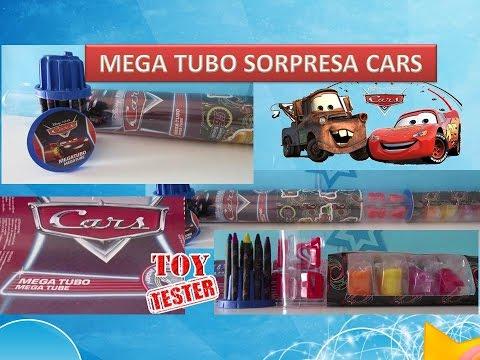 Tubo Sorpresa Gigante de Cars con Rayo McQueen | Juguetes de Rayo Macuin en español