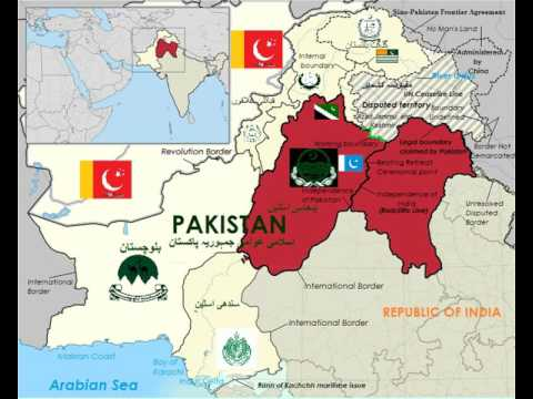 Map Of India And Pakistan Border.Map Of Paritition Of The Punjab پنجاب ਪ ਜ ਬ Youtube