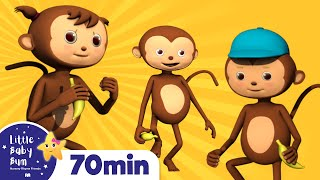5 Little Monkeys Jumping On The Bed | Plus Lots More Rhymes | 72 Mins from LittleBabyBum!
