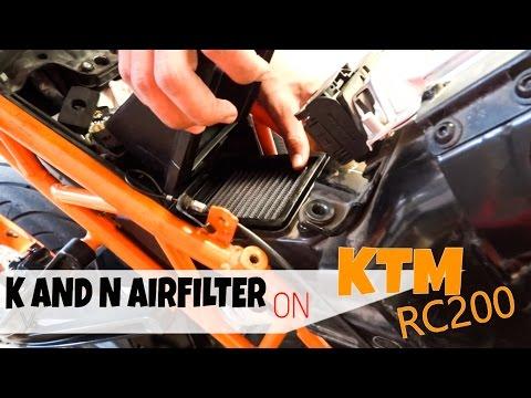 KTM RC200 | INSTALLING K & N AIRFILTER!