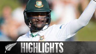 Bangladesh's Highest Ever Partnership | FULL HIGHLIGHTS | 1st Test - BLACKCAPS v Bangladesh, 2017