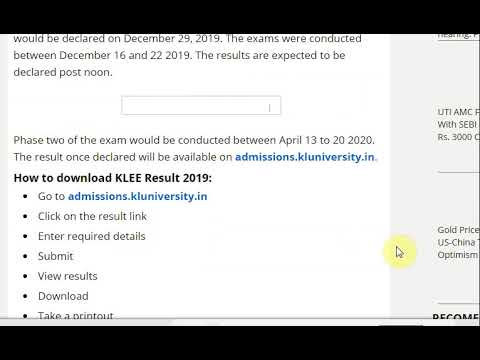 KLEE Result 2019 date and time will declare today
