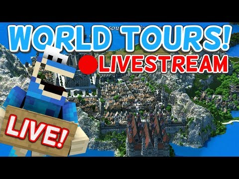 TOURING SUBSCRIBER'S WORLDS! - Minecraft Xbox
